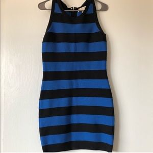 EUC solid striped midi MK dress